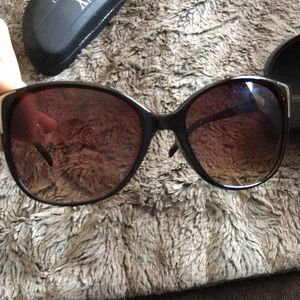 Michael kors Brown with gold sunglasses